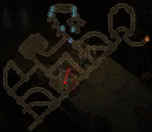 Карта расположения сокровищницы в игре Diablo 3