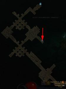Склеп Разложения карта с расположением гоблинов в Diablo 3