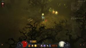 Гоблин в локации Гниющий лес в игре Diablo 3