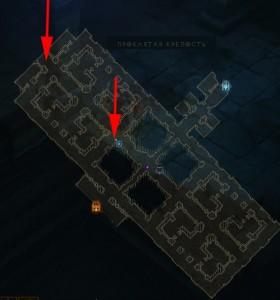 Гоблины в Проклятой крепости - карта Diablo 3